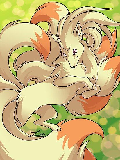 Fluffy Ninetales by linai