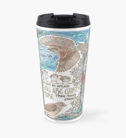 More than Many Sparrows Travel Mug