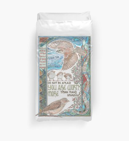 More than Many Sparrows Duvet Cover