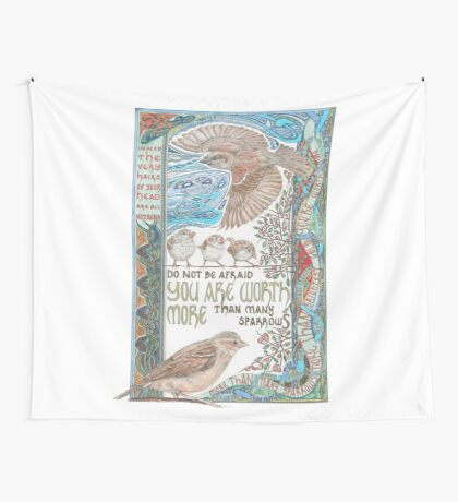 More than Many Sparrows Wall Tapestry