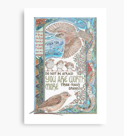 More than Many Sparrows Metal Print