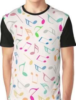 Music Colorful Notes II Graphic T-Shirt