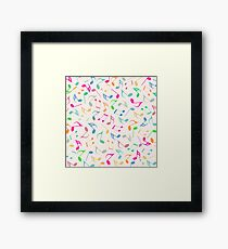Music Colorful Notes II Framed Print