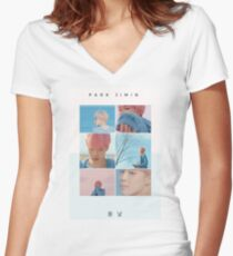 Jimin Spring Day Colours - 봄날 Women's Fitted V-Neck T-Shirt