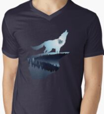 Wolf Howling with Forest 3 T-Shirt