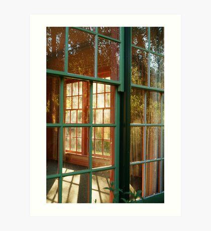 Cottage Windows,Cobin Farm Geelong Art Print