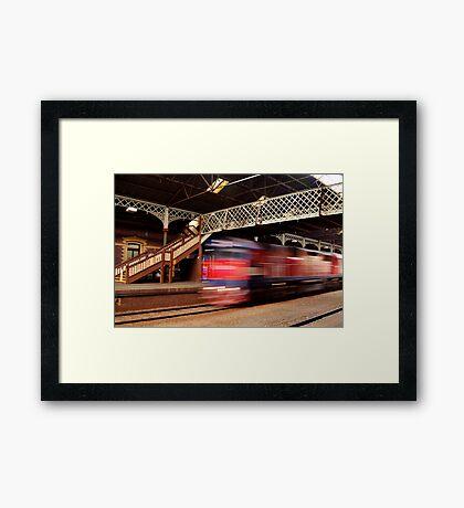 Red Train,Geelong Railway Station Framed Print