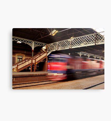 Red Train,Geelong Railway Station Metal Print