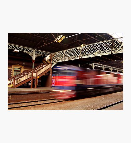 Red Train,Geelong Railway Station Photographic Print