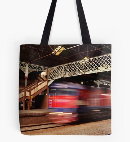 Red Train,Geelong Railway Station Tote Bag