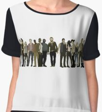 The Walking Dead Cast Women's Chiffon Top