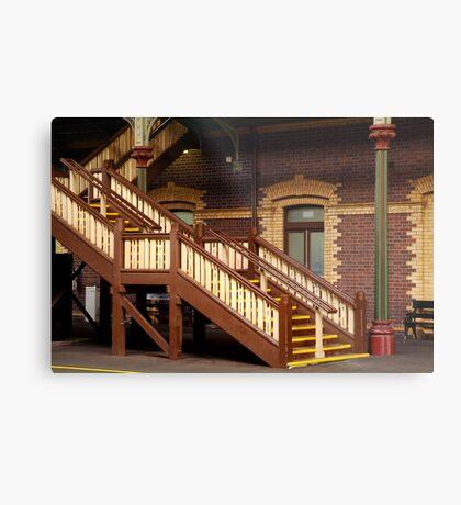 Staircase,Geelong Railway Station Metal Print