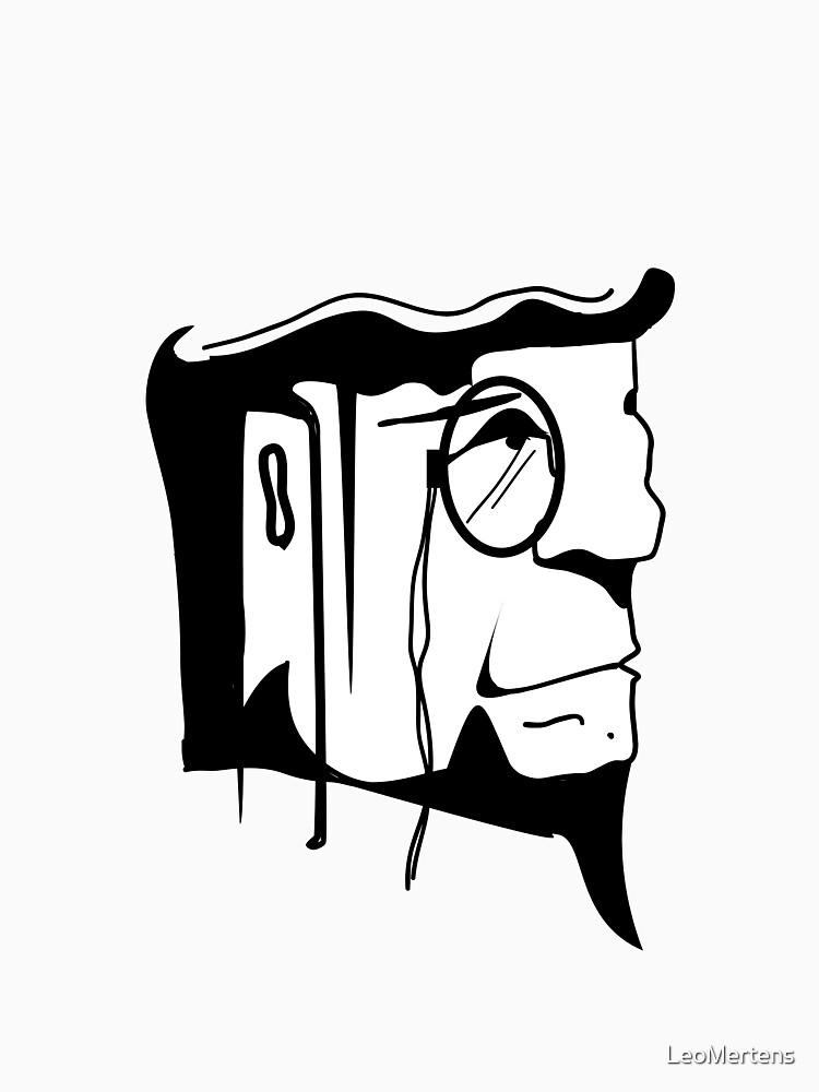 square head t w b shirts design drawing Ink Black by LeoMertens