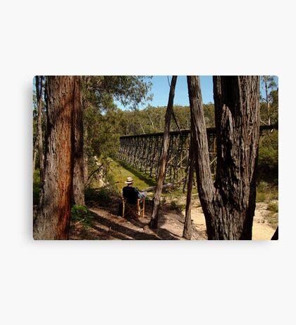 Trestle Bridge Colquhoun State Forest Canvas Print