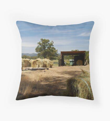 Farm Yard Throw Pillow
