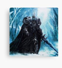 The Lich King in Icecrown Canvas Print