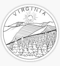 Virginia Blue Ridge Mountains  Sticker
