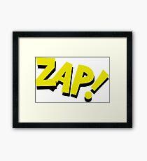 Funny Comic book word  Framed Print