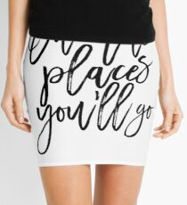 Oh The Places You'll Go,Travel Poster,Travel Gift,Nursery Decor,Kids Gift,Kids Room Decor,Quote Posters Mini Skirt