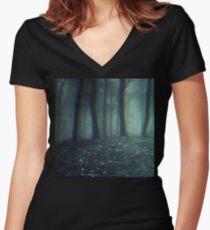 Dark forest Women's Fitted V-Neck T-Shirt