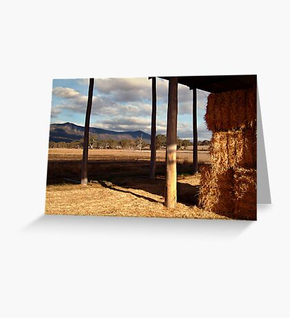 Hay Shed,Eversley, Mt Cole State Park Greeting Card