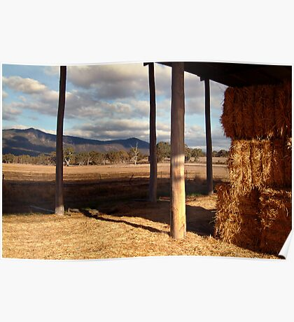 Hay Shed,Eversley, Mt Cole State Park Poster