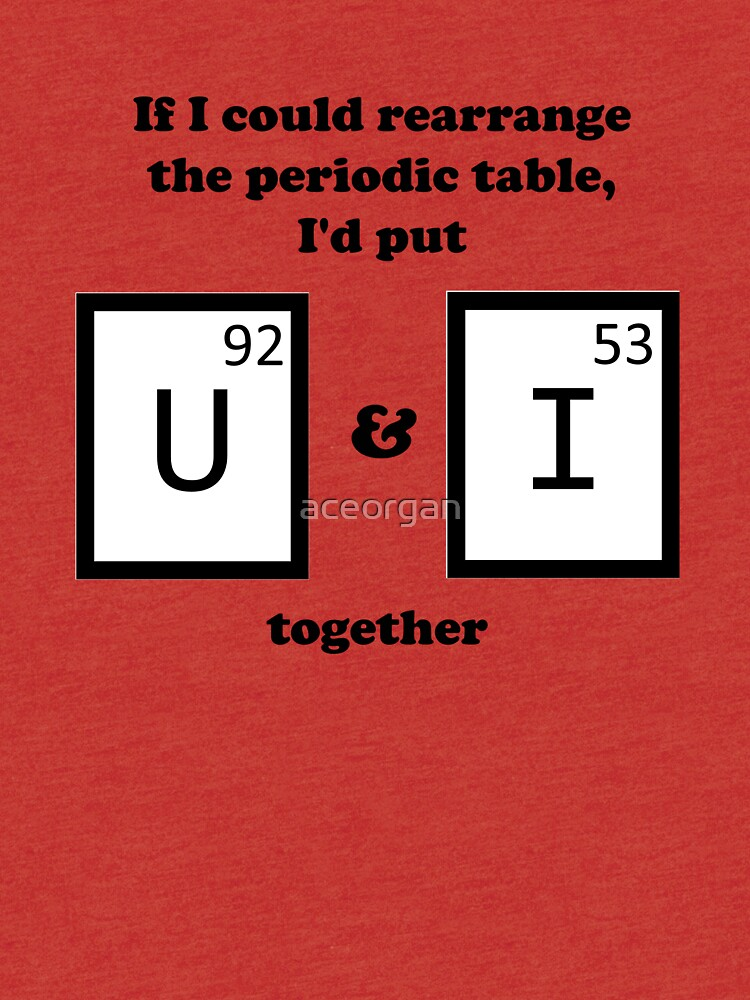 If I Could Rearrange The Periodic Table Tri Blend T Shirt By