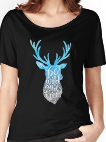 Be Wild and Free - the Caribou Women's Relaxed Fit T-Shirt