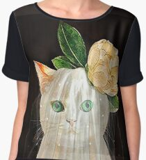 The Bride Cat Art Chiffon Top