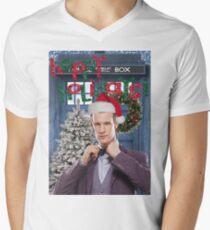 Dr. Eleventh Xmas Mens V-Neck T-Shirt