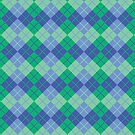 Blue-Green Argyle by Lisann
