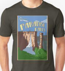 Paradise Falls Travel Poster T-Shirt