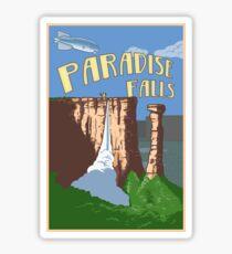 Paradise Falls Travel Poster Sticker