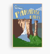 Paradise Falls Travel Poster Canvas Print