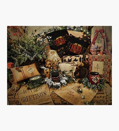 Country Christmas Crafts 3 Photographic Print