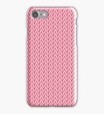 Knitted pattern.Woolen cloth iPhone Case/Skin
