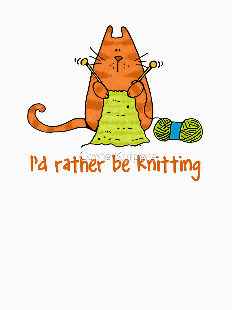 I'd rather be knitting..... by cfkaatje
