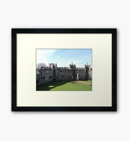 The Walls Of Framlingham Castle Framed Print