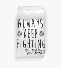 keep fighting Duvet Cover