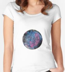 Galaxy Women's Fitted Scoop T-Shirt
