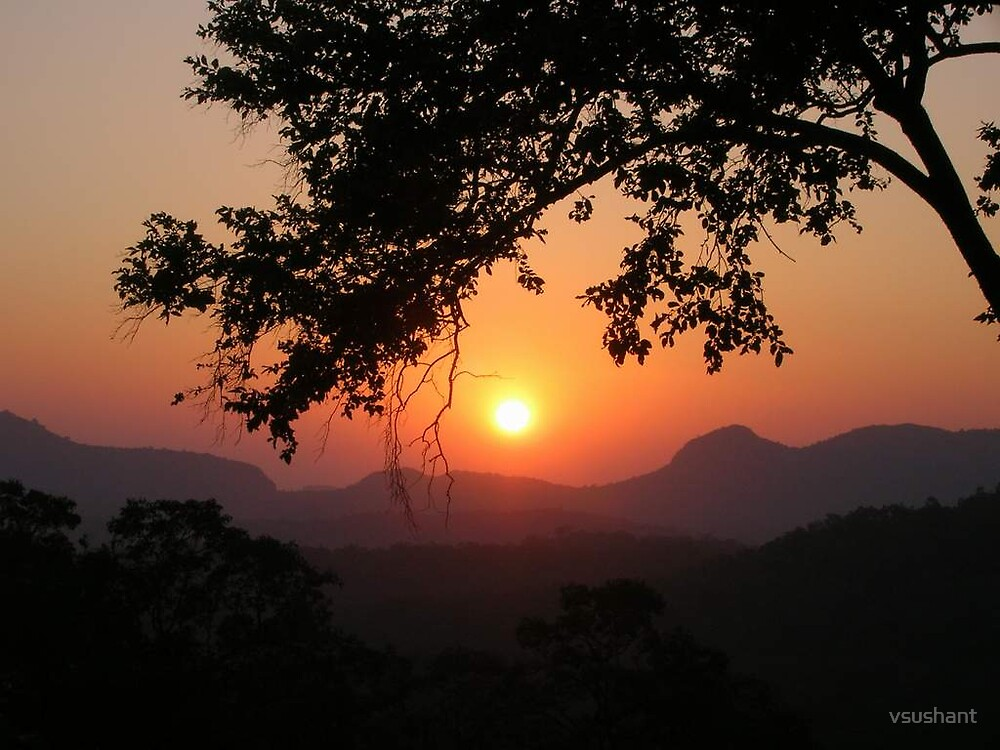 Pachmarhi Sunset by vsushant
