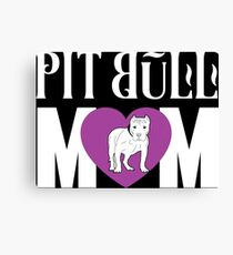 Pit Bull Mom Love - Cute Pit Bull Shirt And Gifts For Girls and Women Canvas Print