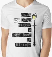 Have you ever licked a lamp post in winter? Men's V-Neck T-Shirt
