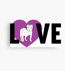Pitbull Shirt Love Canvas Print