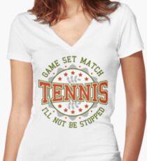 Tennis Badge Women's Fitted V-Neck T-Shirt