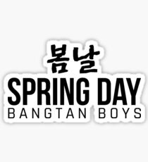 BTS Spring Day YNWA Sticker