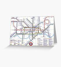 "London Underground ""tube map"" Greeting Card"