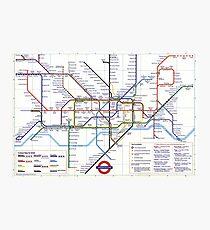 "London Underground ""tube map"" Photographic Print"