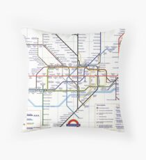"London Underground ""tube map"" Throw Pillow"