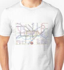 """London Underground """"tube map"""" Unisex T-Shirt"""